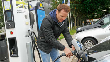 Cash boost for electric car charging points