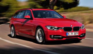 BMW 3 Series Touring front corner