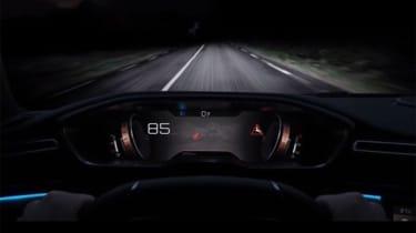 Peugeot 508 leaked - night vision