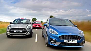 Ford Fiesta ST vs MINI Cooper S vs Volkswagen Polo GTI - header