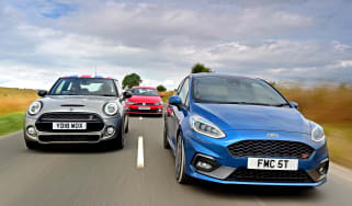 Ford Fiesta ST vs MINI Cooper S vs Volkswagen Polo GTI - header