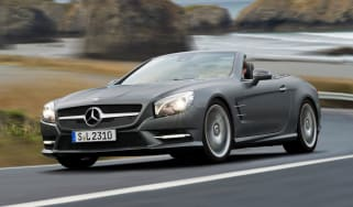 Mercedes SL front cornering