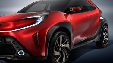 Toyota Aygo X prototype - studio side profile