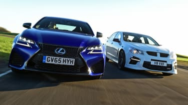Lexus GS F vs Vauxhall VXR8 GTS - header close