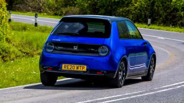 Honda e - rear cornering