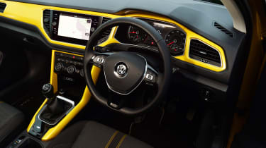Volkswagen T-Roc - interior yellow
