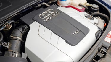 Audi A6 engine detail