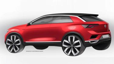VW T-ROC sketch - rear red