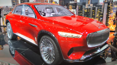 Mercedes-Maybach SUV front red