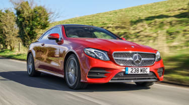Mercedes E 400 d  Coupe - front tracking