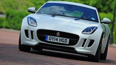 Jaguar F-Type Coupe V6 driving
