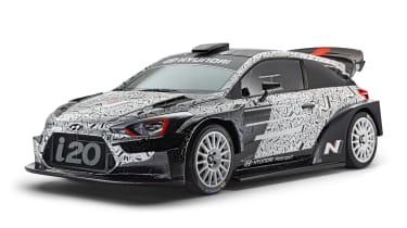 Hyundai i20 WRC car - front quarter