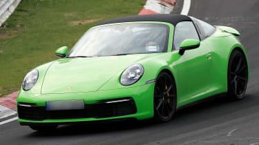 Porsche 911 Targa spies - front