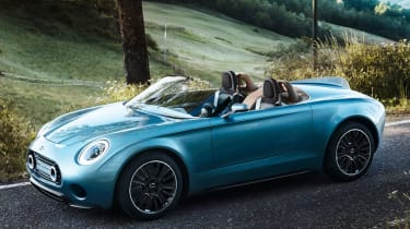 Every now and then, the designers like to take a break from scaling up hatchbacks, and in 2014 they blew us away with this, the MINI Superleggera Vision.