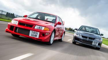 Mitsubishi's 100th year celebration - generations of Evolution