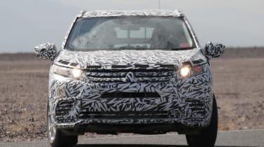 New Mitsubishi SUV front dead on