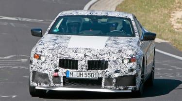 2018 BMW M8 spy shot front