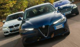 Alfa Romeo Giulia vs Jaguar XE vs BMW 3 Series - header