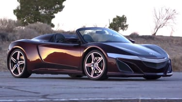 acura nsx convertible concept car the avengers