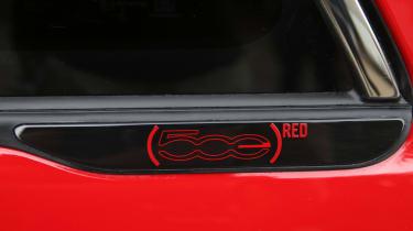 Fiat 500(RED) - side badge