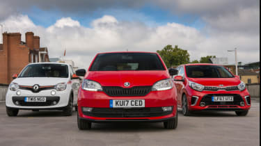 Skoda Citigo vs Kia Picanto vs Renault Twingo – group