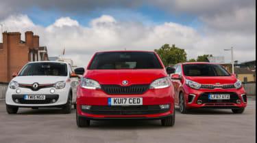 Skoda Citigo vs Kia Picanto vs Renault Twingo – group
