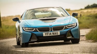 Used BMW i8 - front cornering