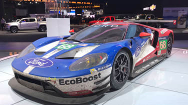 The Ford stand features beasts like this racing GT.