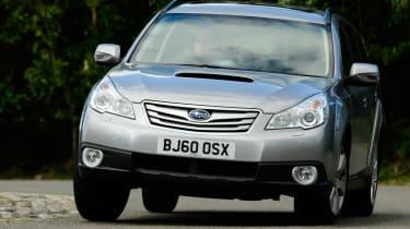 Subaru Outback front cornering