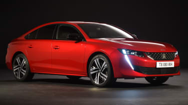 Peugeot 508 red front