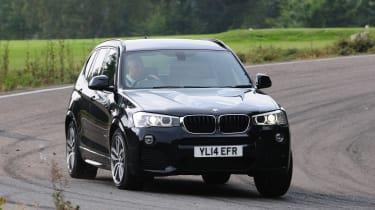 BMW X3 front cornering