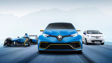 Renault ZOE e-sport - front tracking group