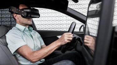 Audi Virtual Training Car man