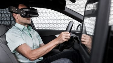 Audi Virtual Training Car man