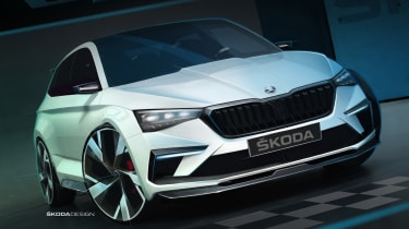 Skoda Vision RS concept front