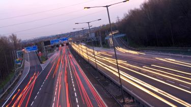 M6 motorway traffic lights