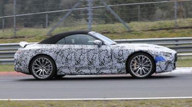 Mercedes SL spy 2021 - side