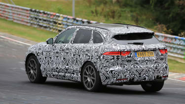 Jaguar F-Pace SVR spy shots rear