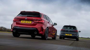 VW Golf GTD vs BMW 120d - rear