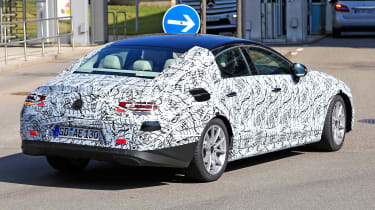 2018 mercedes cls spy shot rear quarter