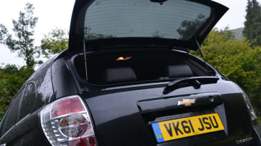 The Captiva has a 465 litre boot.