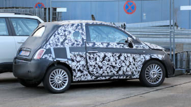 2020 Fiat 500 - spies - rear 3/4 static