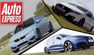 Honda Civic Type R vs M3 and RS3