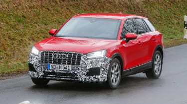 Audi SQ2 - red spied front/side