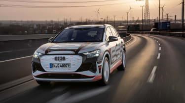 Audi Q4 e-tron prototype - front action