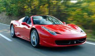 Ferrari 458 Spider front tracking
