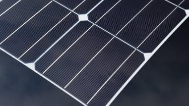 Toyota Prius - solar roof detail