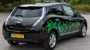 EV driving school - Nissan Leaf - rear
