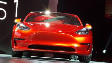 Tesla Model 3 head on
