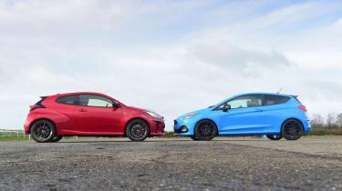 Toyota GR Yaris vs Ford Fiesta ST Edition - static